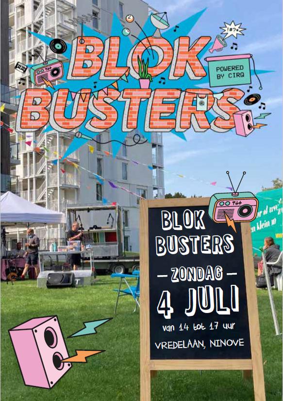 """Op 4 juli komt Buurtradio-en tv """"DE BLOKBUSTERS"""" naar de Pollarewijk!"""