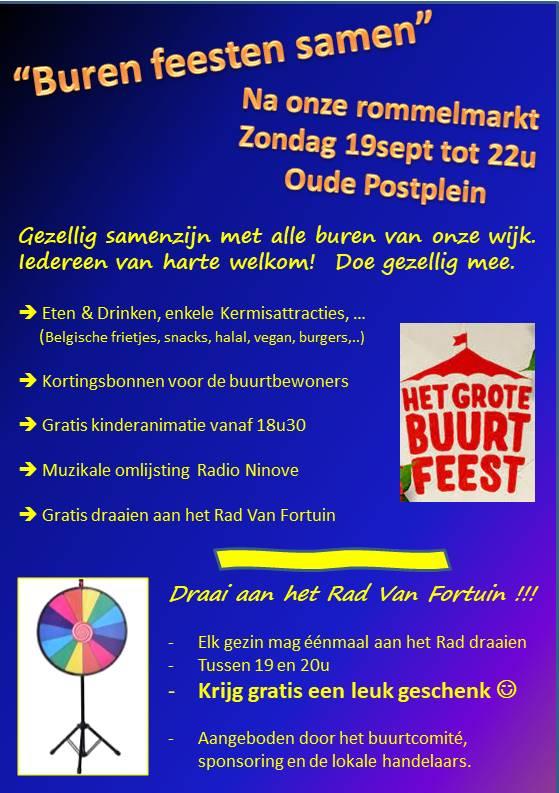 Op 19 september 2021 feesten de buren in Nederwijk-Pamelstraat